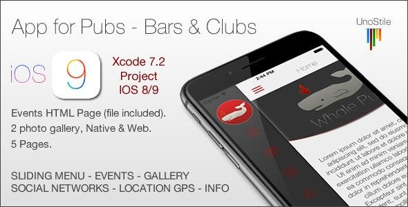 App IOS Pub & Bars - CodeCanyon Item for Sale