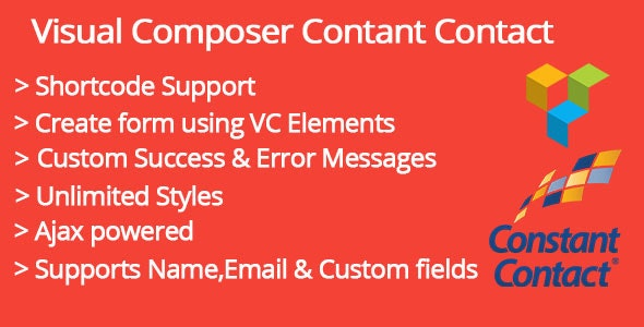 Visual Composer Constant Contact Addon - CodeCanyon Item for Sale