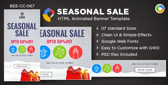 HTML5 Seasonal Sale Banners - GWD - 7 Sizes - CodeCanyon Item for Sale