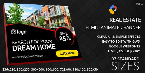Real Estate - HTML5 ad banners - CodeCanyon Item for Sale
