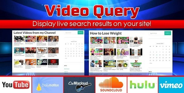 Video Query - YouTube, DailyMotion, Hulu, MixCloud