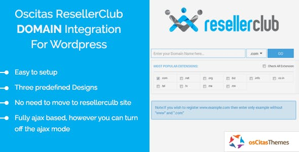 osCitas - ResellerClub Domain Registration Integration Kit