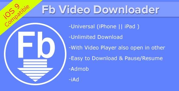 Fb Video Downloader iPhone/ iPad