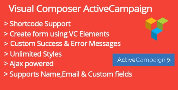 Visual Composer ActiveCampaign Addon - CodeCanyon Item for Sale