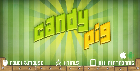 CandyPig-html5 mobile game - CodeCanyon Item for Sale