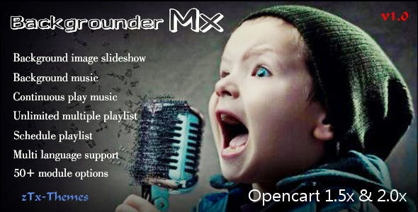 Backgrounder Mx Pro - All-in-One Music & Slideshow Solution