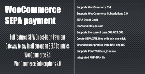 WooCommerce SEPA Payment Gateway