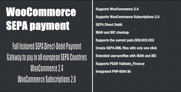 WooCommerce SEPA Payment Gateway - CodeCanyon Item for Sale
