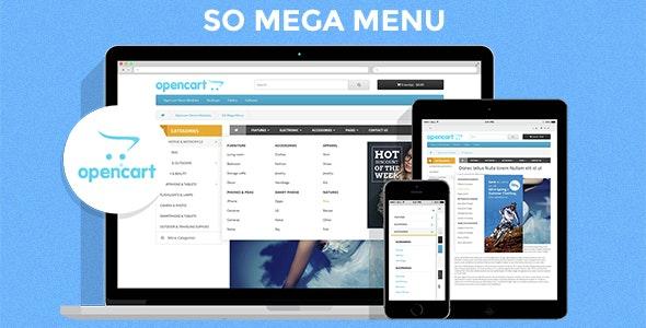 So Mega Menu - Drag & Drop | Responsive OpenCart 3.0.x & OpenCart 2.x Module - CodeCanyon Item for Sale