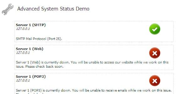 Advanced System Status