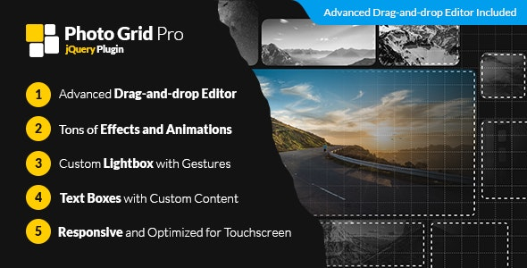 Photo Grid Pro - jQuery Interactive Grid Gallery Builder