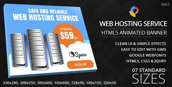 Web Hosting - HTML5 ad banners