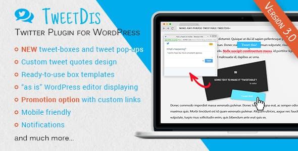 TweetDis - Make Any Phrase Tweetable - CodeCanyon Item for Sale