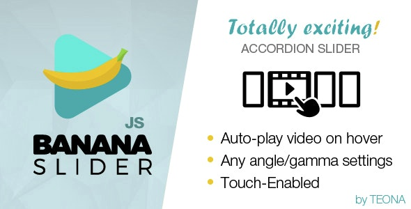 BananaSlider JS Video Slider with accordion effect - CodeCanyon Item for Sale