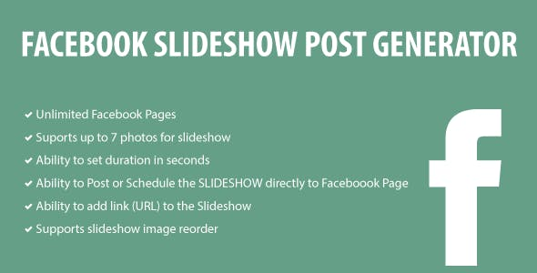 Facebook Slideshow Post Generator
