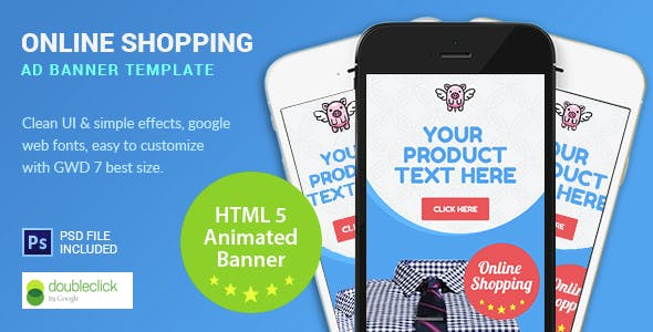 Shopping | HTML5 Google Banner Ad 7