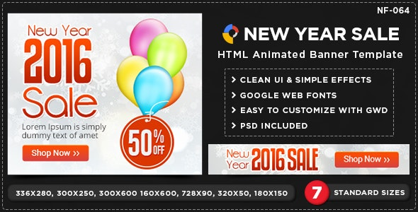 HTML5 Sale Banners - GWD - 7 Sizes - CodeCanyon Item for Sale