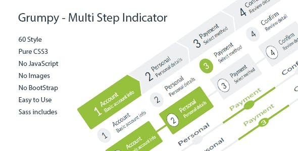 Grumpy - Multi Step Indicator 60 Style