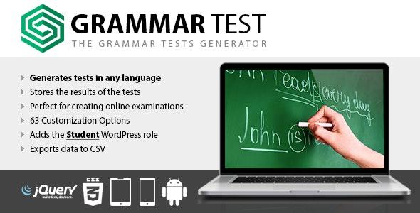 Grammar Test - CodeCanyon Item for Sale