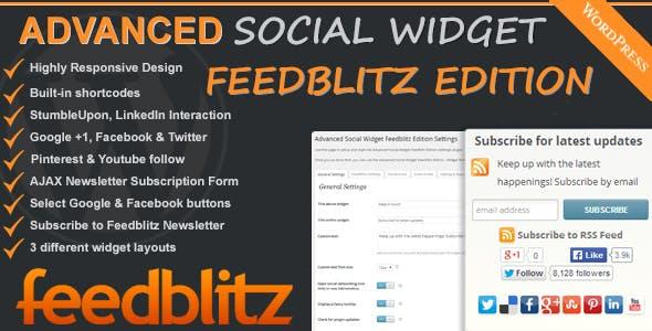 Advanced Social Widget Feedblitz Edition