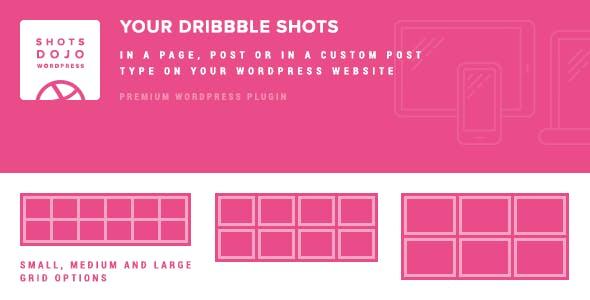 WPShotsDojo - Portofolio WordPress Plugin from Dribbble Shots