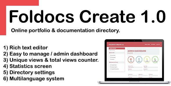 Foldocs Create 1.0 - CodeCanyon Item for Sale