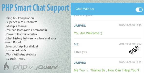 PHP Smart Robot Chat Support - CodeCanyon Item for Sale
