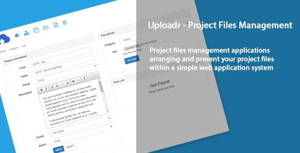 Uploadr - Project files management - CodeCanyon Item for Sale