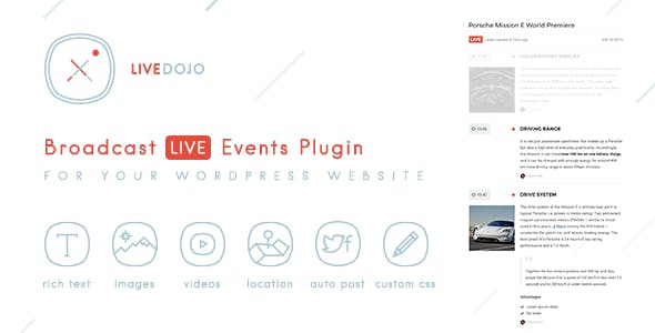 WPLiveDojo - Live Event Text Broadcast Plugin