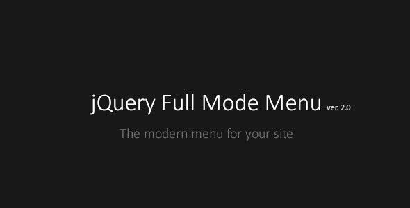 Full Mode Menu - CodeCanyon Item for Sale