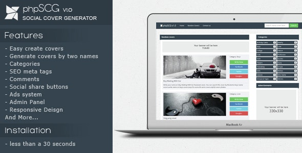 phpSCG v1.0 - Social cover generator. - CodeCanyon Item for Sale