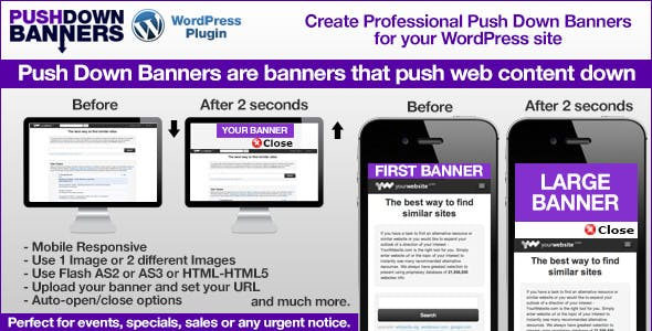 Push Down Banners WordPress Plugin