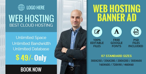 GWD | Web Hosting Ad Banners - 7 Sizes - CodeCanyon Item for Sale