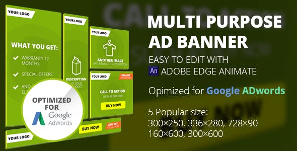 HTML5 Animated Banner Templates | Edge Animate