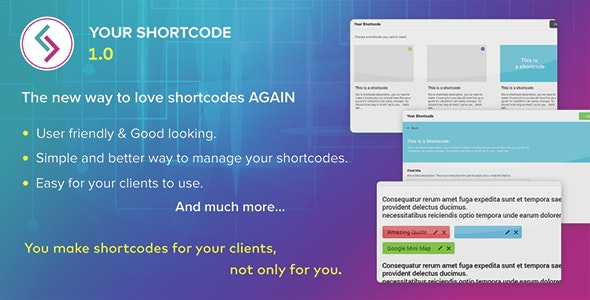 Your Shortcode - CodeCanyon Item for Sale