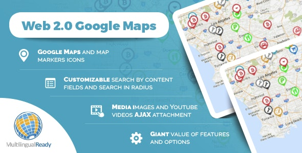 Google Maps Locator plugin for WordPress - CodeCanyon Item for Sale