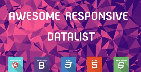 AngularJS Data List & Data Table - CodeCanyon Item for Sale