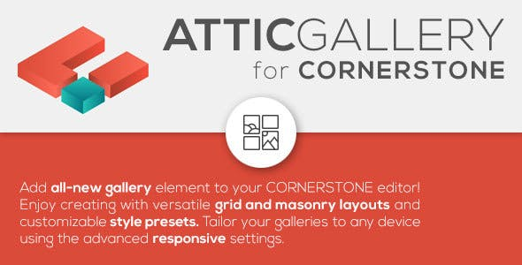 Attic Gallery - versatile gallery element for Cornerstone page builder