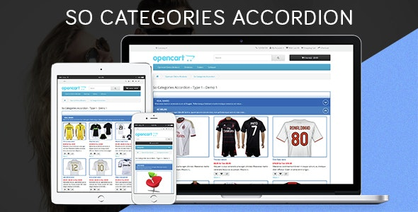 So Categories Accordion - Responsive OpenCart 3 & 2.x Module - CodeCanyon Item for Sale
