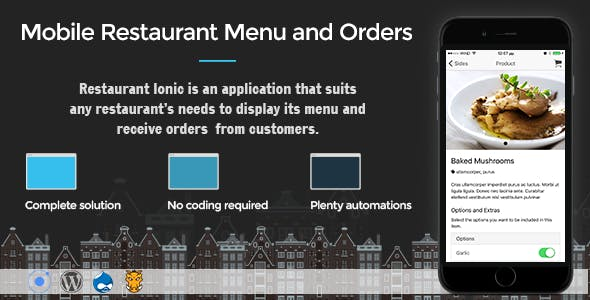Restaurant Ionic 4 - Full Application with Firebase backend
