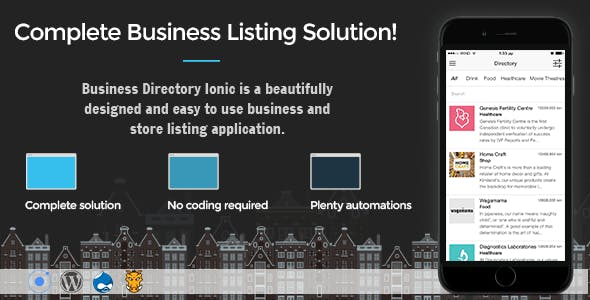 Business Directory Ionic 3 - Full Application with Firebase and Backendless backend