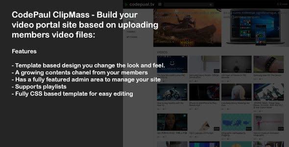 CodePaul ClipMass - Video Portal Site