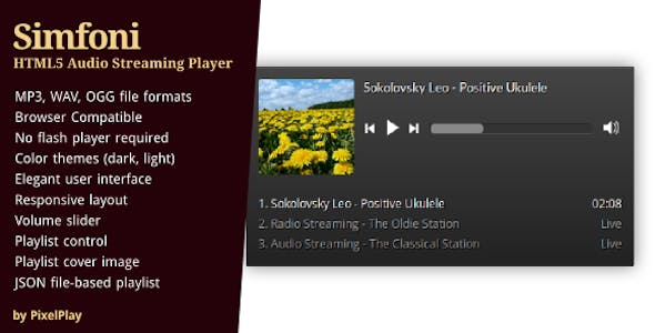 Simfoni - Responsive HTML5 Audio Streaming Player