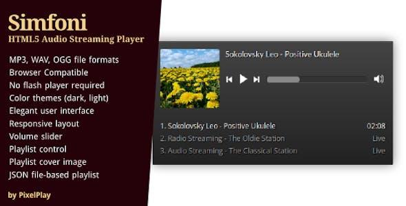Simfoni - Responsive HTML5 Audio Streaming Player