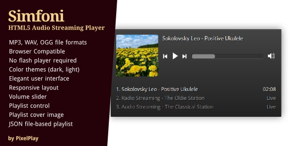 Simfoni - Responsive HTML5 Audio Streaming Player - CodeCanyon Item for Sale