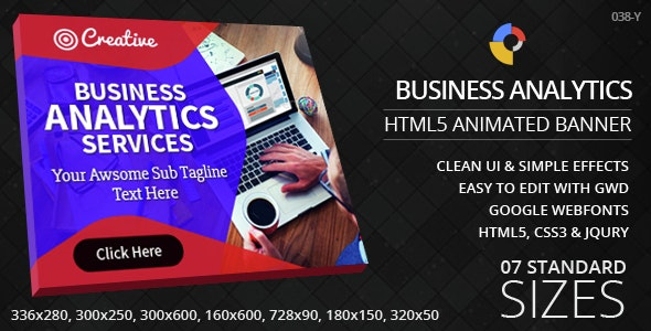 Business Analytics - HTML5 ad banners - CodeCanyon Item for Sale