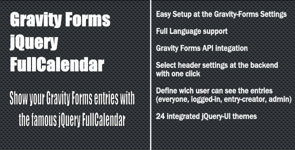 Gravity Forms - jQuery fullCalendar