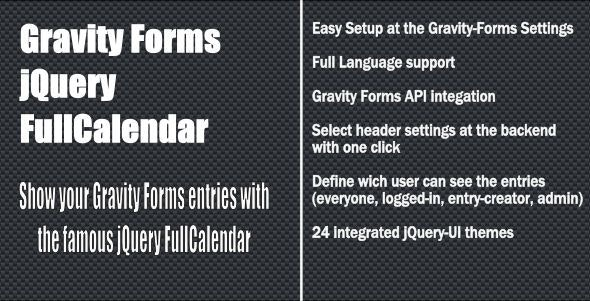 Gravity Forms - jQuery fullCalendar - CodeCanyon Item for Sale