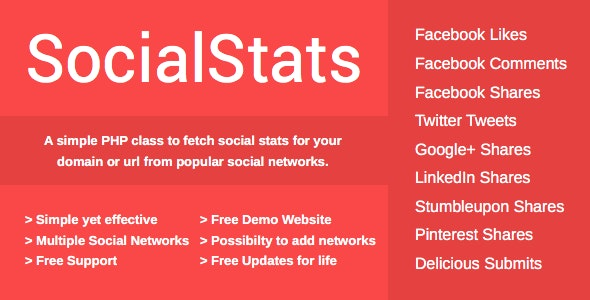 SocialStats PHP Class  - CodeCanyon Item for Sale