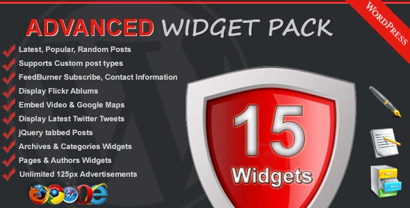 Advanced Widget Pack - CodeCanyon Item for Sale